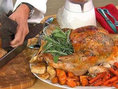 wolfgang pucku0027s roast turkey on a bed of vegetables