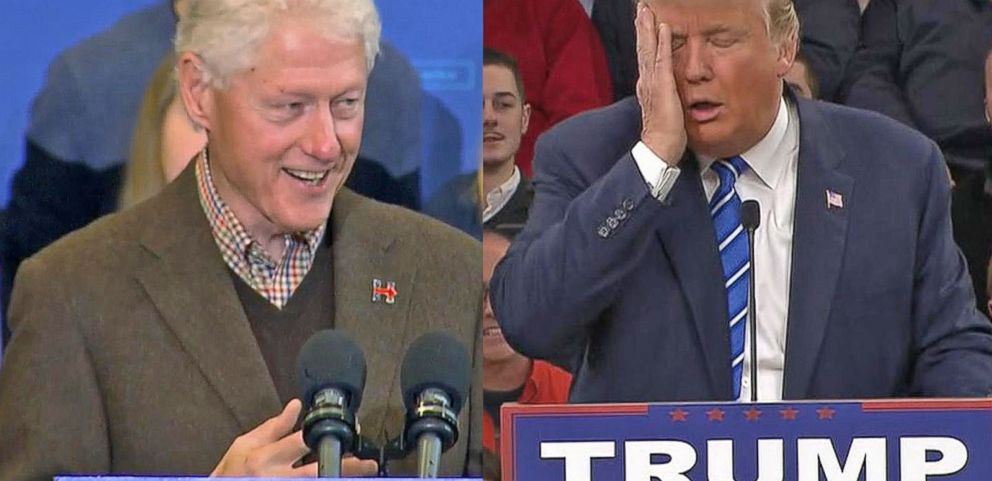 VIDEO: Donald Trump, Bill Clinton Spar With Their Comments to the Media