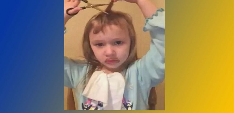 VIDEO: Little Girl Chops Her Hair Off After Asking Grandma to Do Makeup Tutorial
