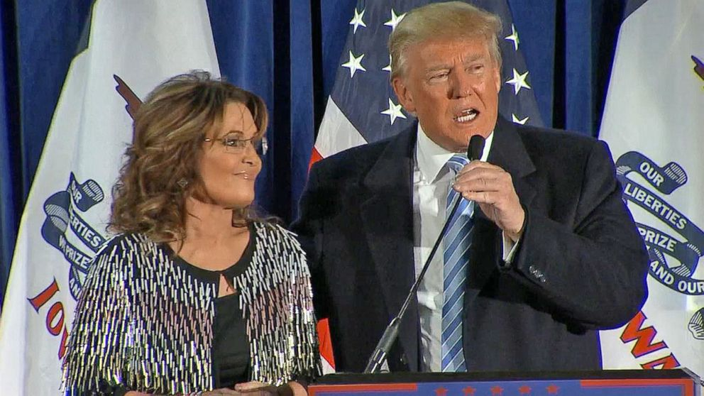 Sarah Palin Endorses Donald Trump For President Video