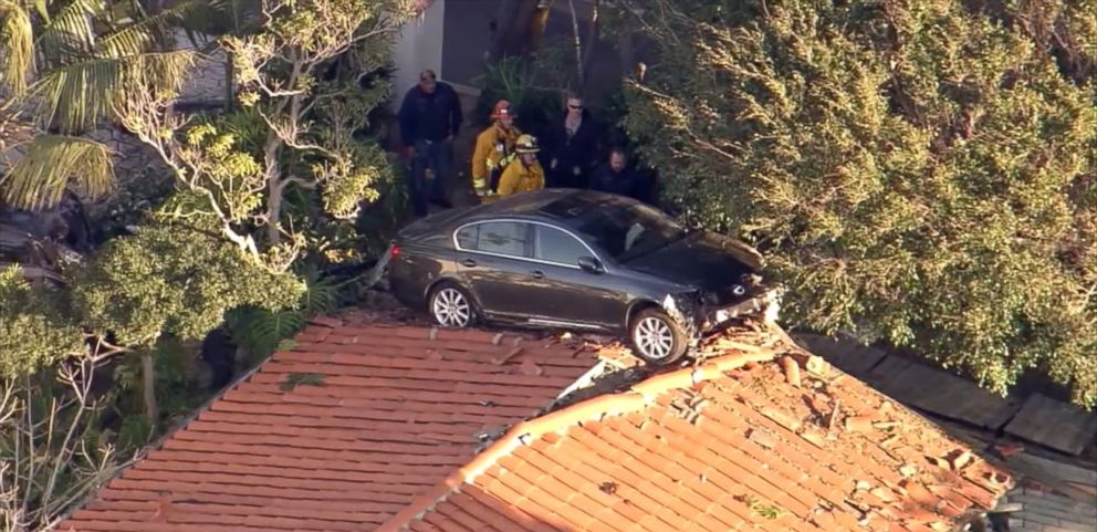 Airborne Car Lands On Roof Of Home Garage In California Abc News