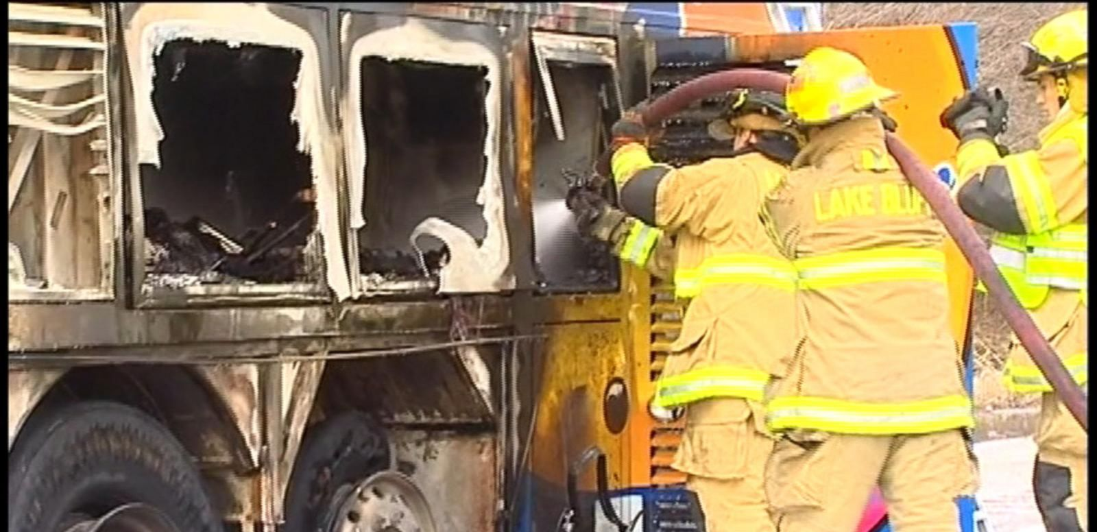 VIDEO: Megabus Catches Fire, Explodes on Illinois Highway