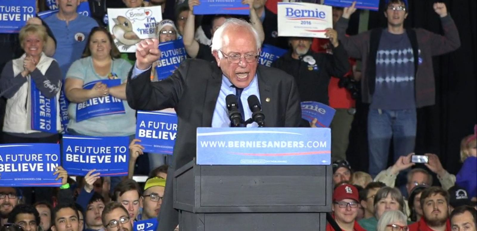 VIDEO: Bernie Sanders Sweeps Saturday Caucuses