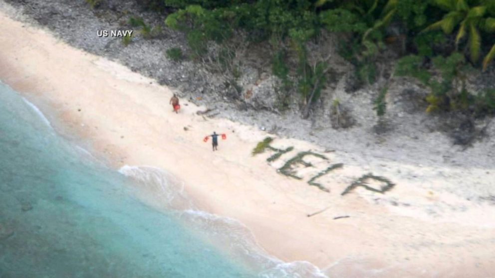 Shipwrecked Sailors Rescued After Making 'Help' Sign Video - ABC News