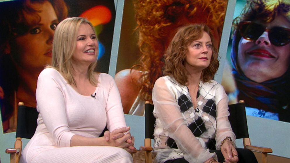 stars reunite for thelma amp louise 25th anniversary video