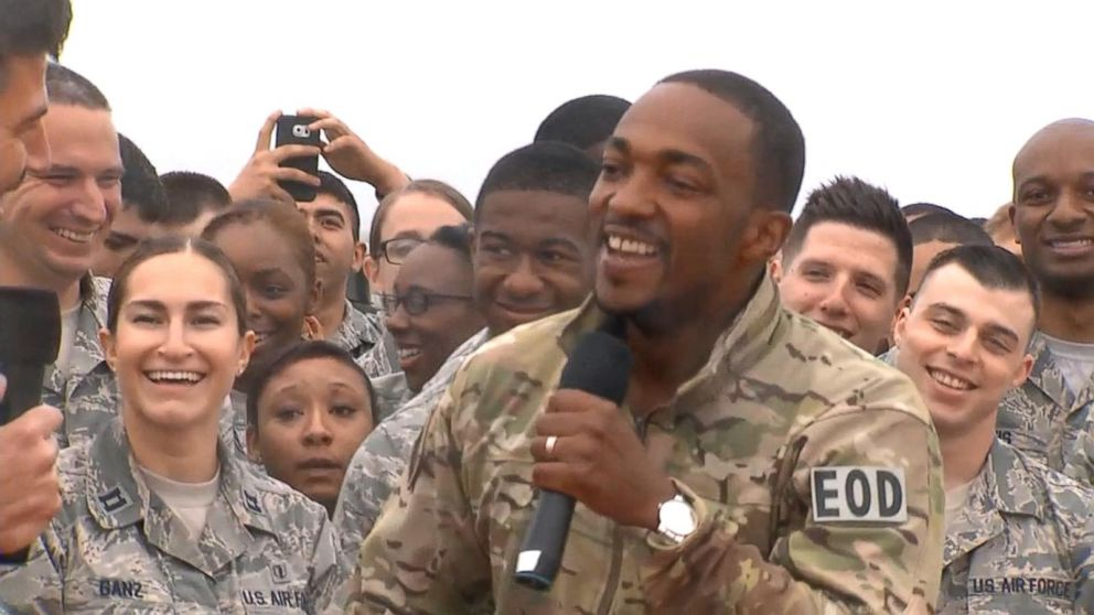 Buffering Replay Anthony Mackie Has Huge Captain America Surprise For Langley Air Force Base