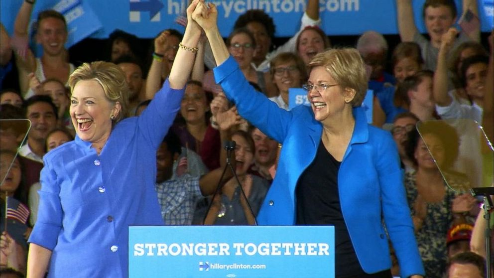 Elizabeth Warren on the Campaign Trail With Hillary Clinton Video ...