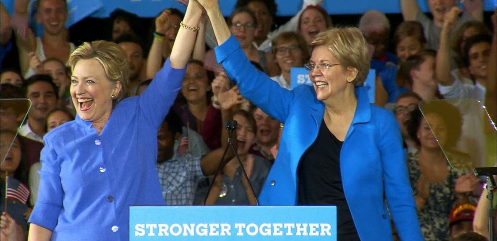 VIDEO: Elizabeth Warren on the Campaign Trail With Hillary Clinton