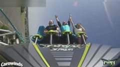 VIDEO: James and Cortni Music got married while riding the Fury 325 roller coaster at Carowinds in Charlotte, North Carolina.
