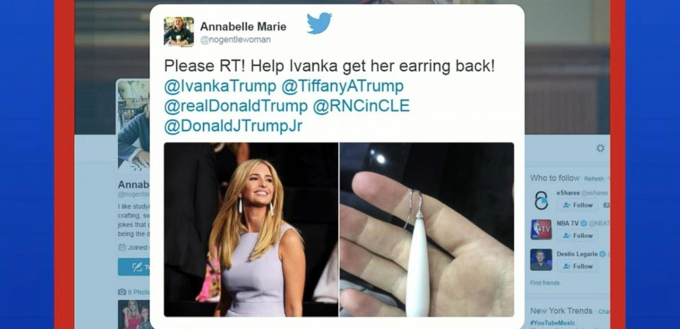 VIDEO: College Student Returns Ivanka Trumps Missing Earring