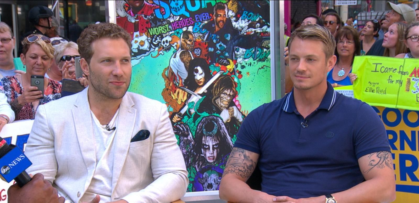 VIDEO: Joel Kinnaman, Jai Courtney Talk 'Suicide Squad' on 'GMA'