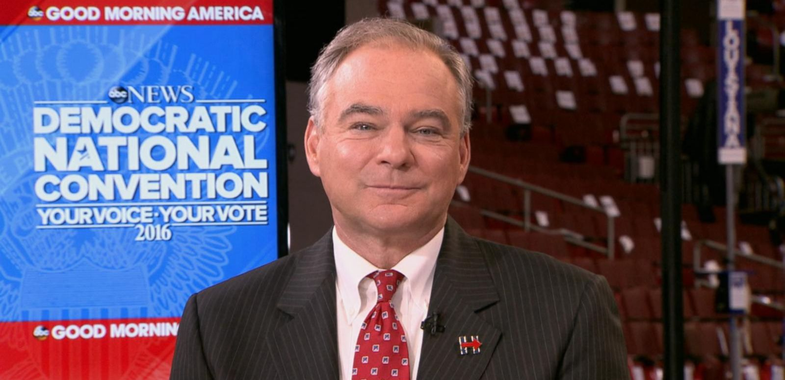 VIDEO: Tim Kaine Reacts to DNC Speech, Vice Presidential Nomination