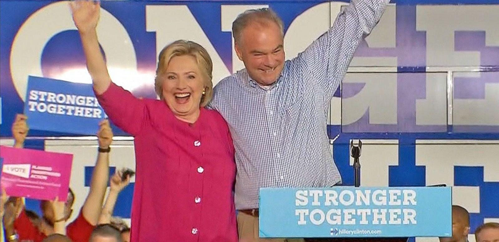 VIDEO: Hillary Clinton, Tim Kaine Campaign in Battleground States