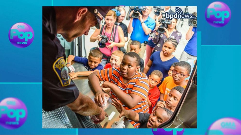 VIDEO: Boston Police Unveil Sweet New Ice Cream Truck in Their Fleet