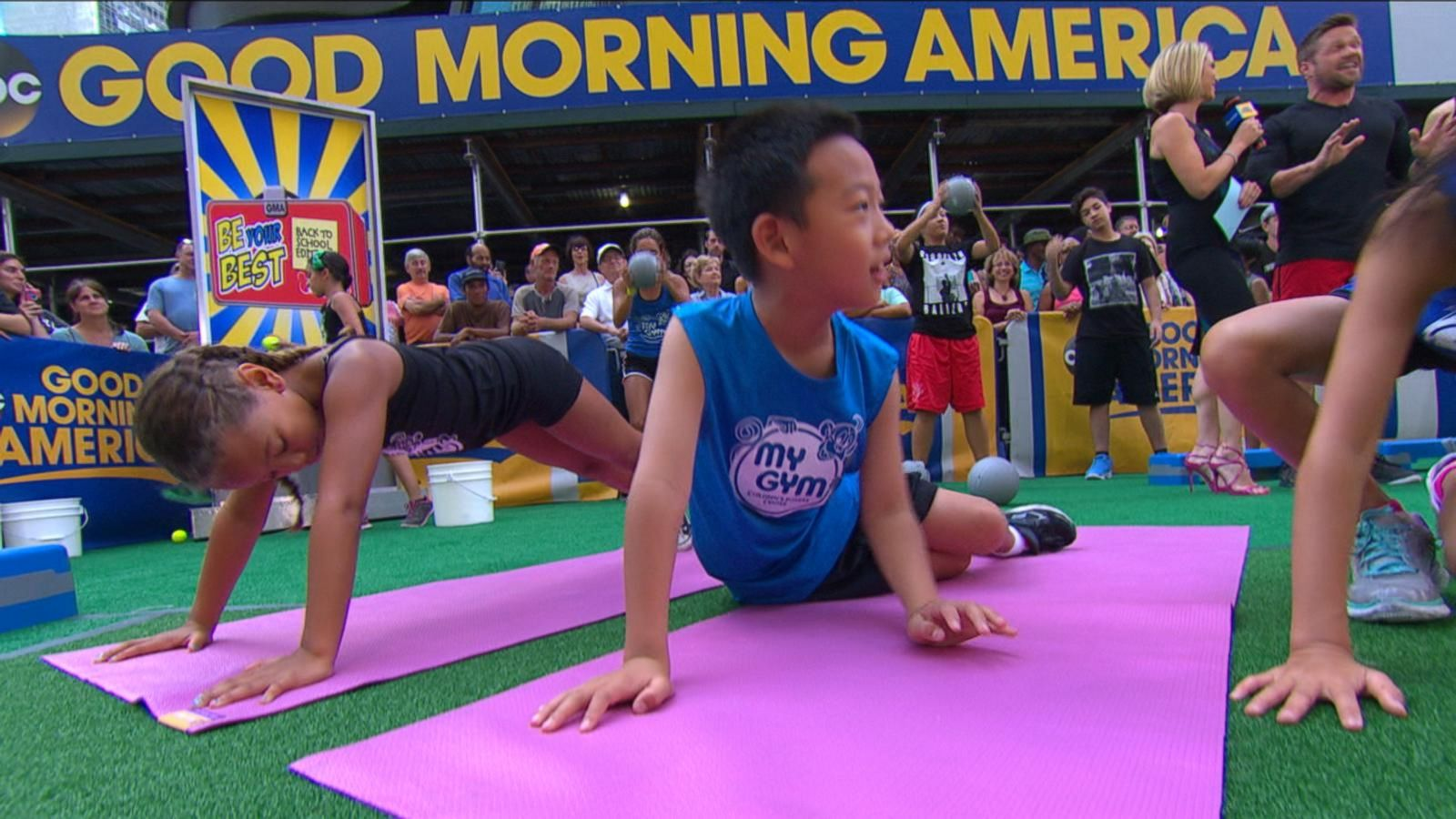 VIDEO: Be Your Best, Back-to-School Edition: Chris Powell Works Out With Kids