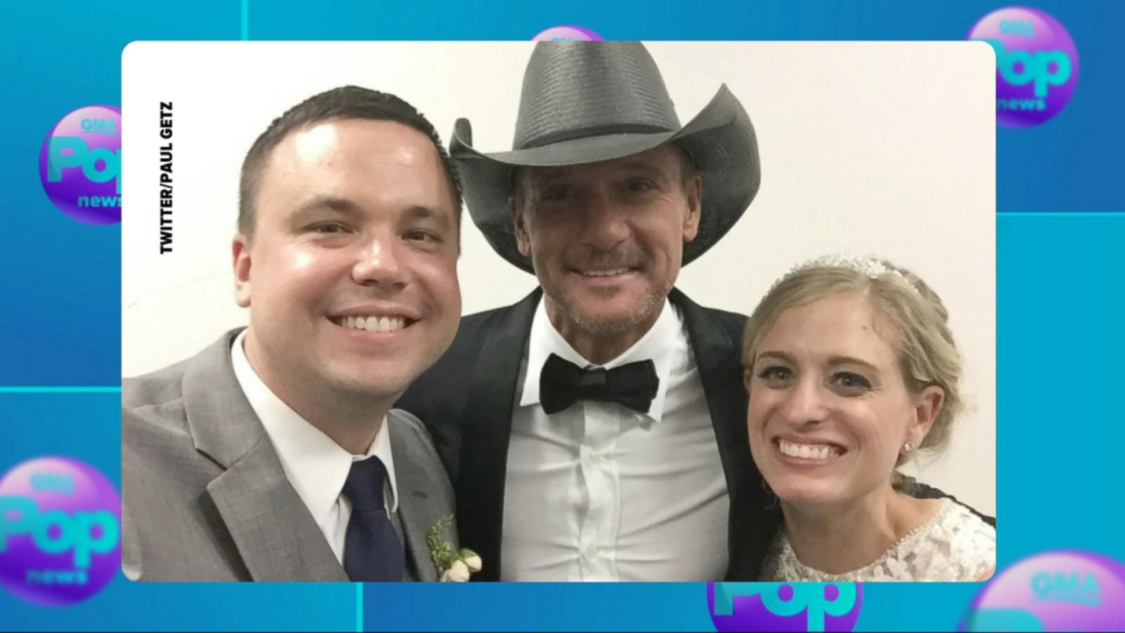 VIDEO: Tim McGraw Crashes Philadelphia Wedding