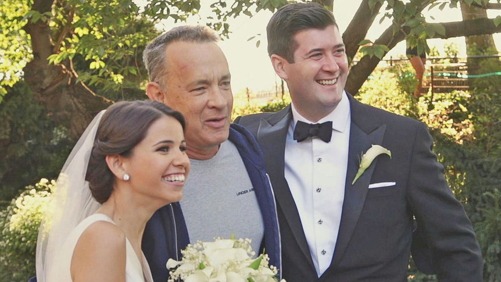 VIDEO: Tom Hanks Photobombs Wedding Shoot in NYC