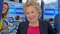 VIDEO: Hillary Clinton Celebrates on the Trail After Presidential Debate