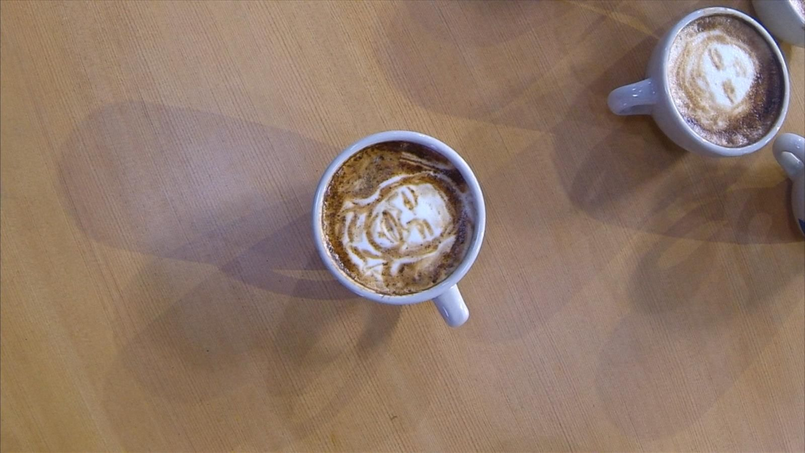 VIDEO: Barista Artist Brings Coffee Creations to 'GMA' for National Coffee Day