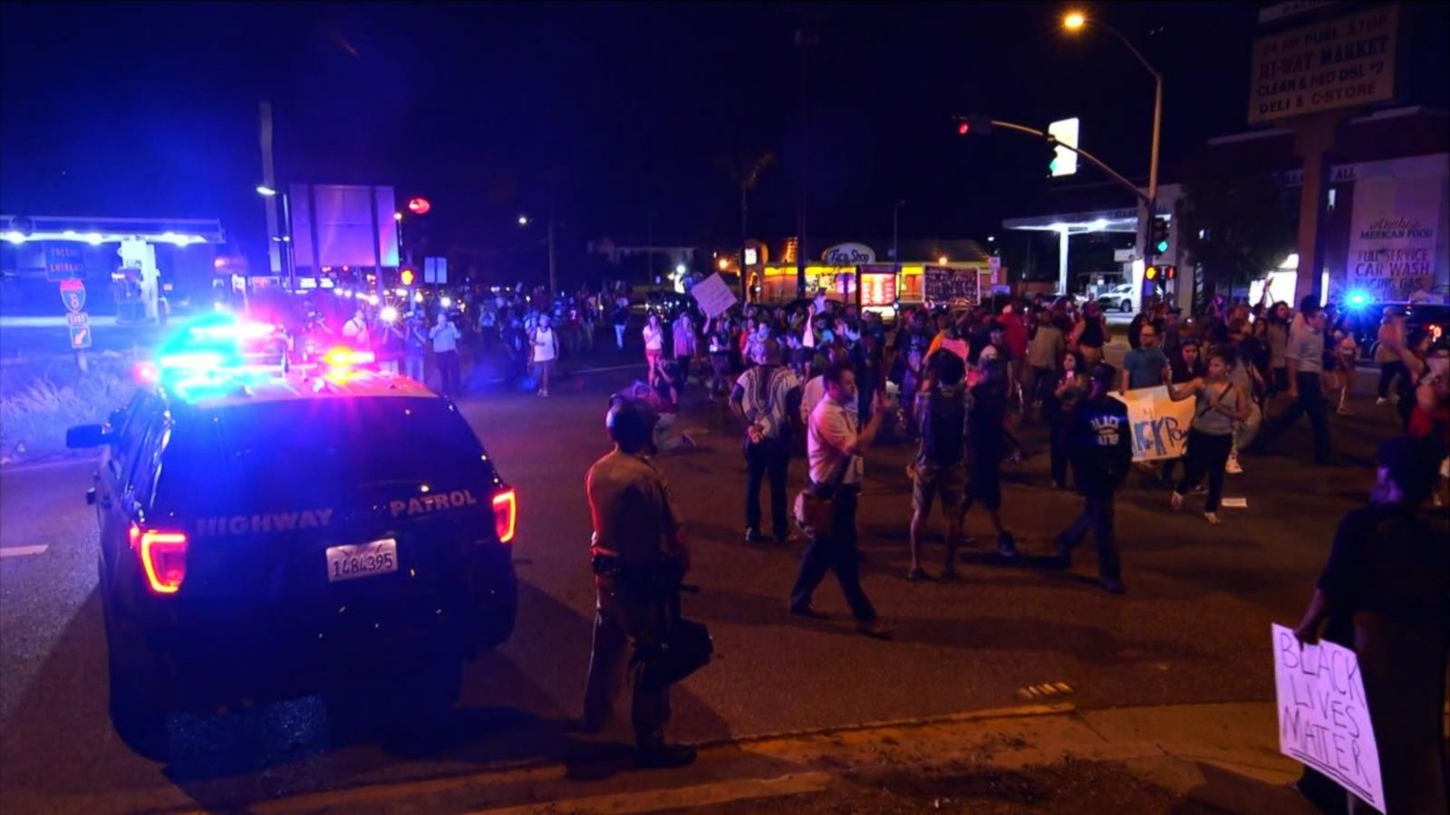 VIDEO: Protesters Flood Streets After California Police Shooting