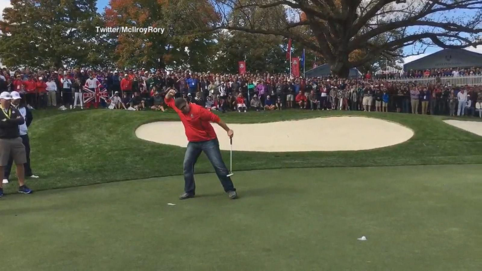 VIDEO: Heckler Puts Money Where his Mouth is with Epic Putt