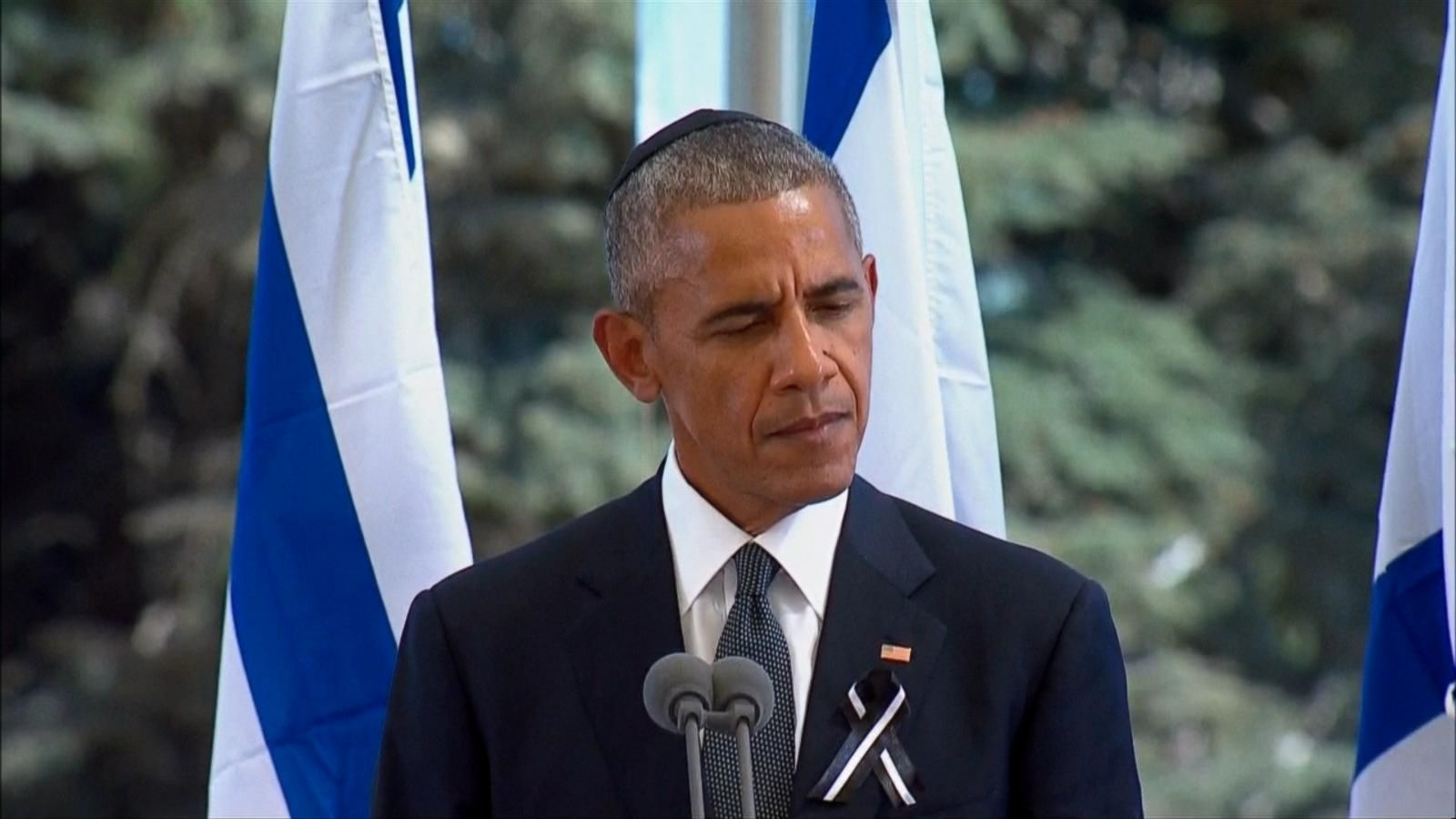 VIDEO: President Obama Attends Funeral of Former Israeli President Shimon Peres
