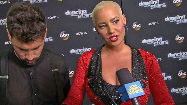 VIDEO: Amber Rose Voted Off 'Dancing With the Stars'