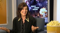 "VIDEO: Cobie Smulders Channels Bob Dylan to Sing Robin Sparkles ""Lets Go To The Mall"""
