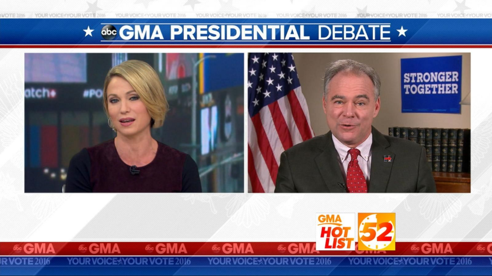 VIDEO: 'GMA' Hot List: Tim Kaine Talks Donald Trump's 'Shocking' Debate Comments