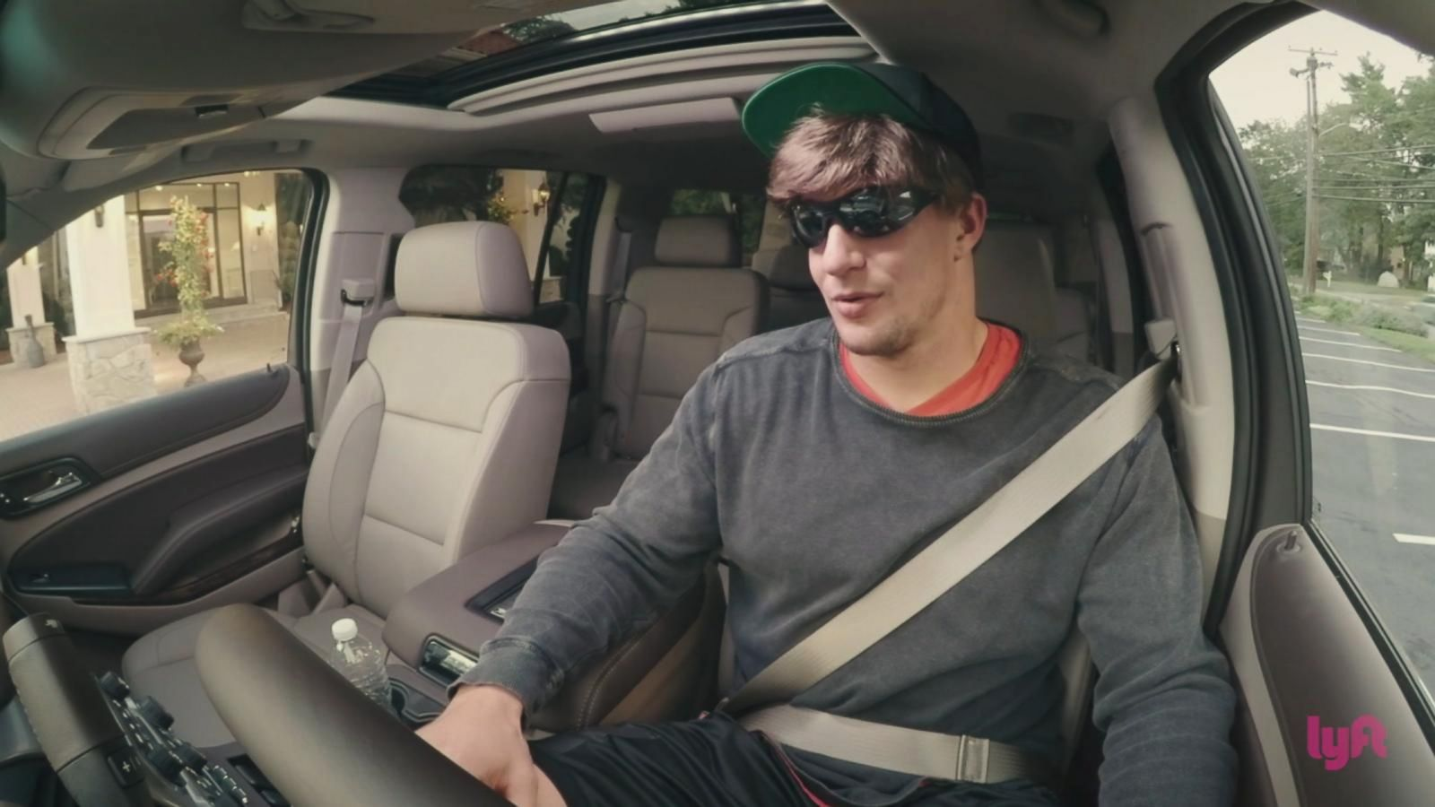 VIDEO: Gronk Goes Undercover as Lyft Driver
