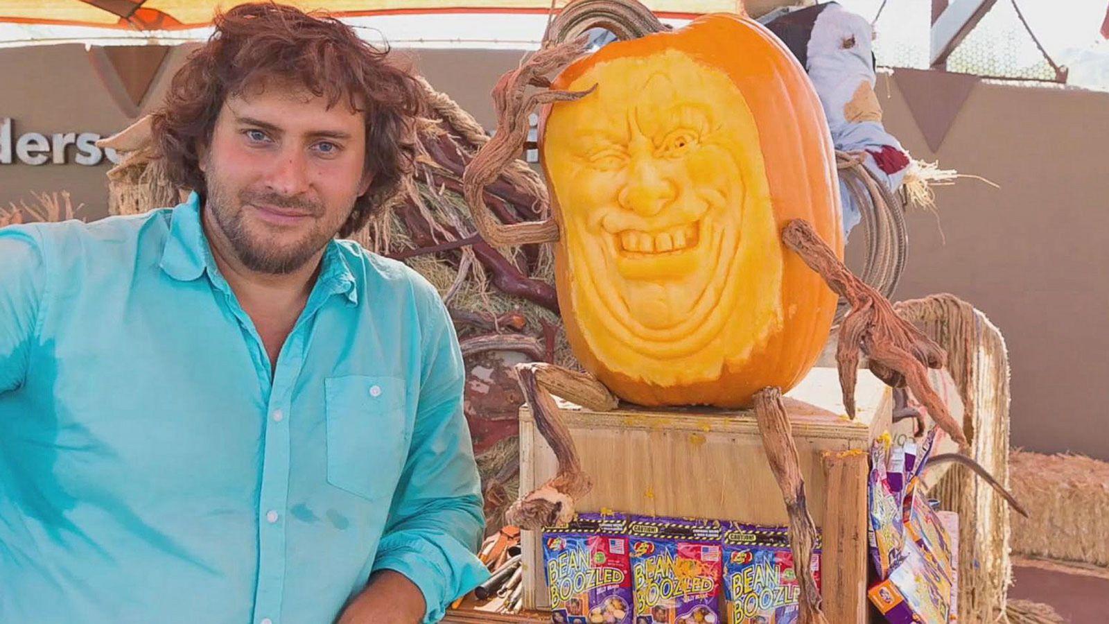 VIDEO: Pumpkin Carving Artists Create Halloween 'Enchanted Garden'