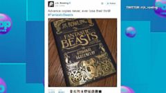 VIDEO: JK Rowling Teases Release of Fantastic Beasts and Where to Find Them Script