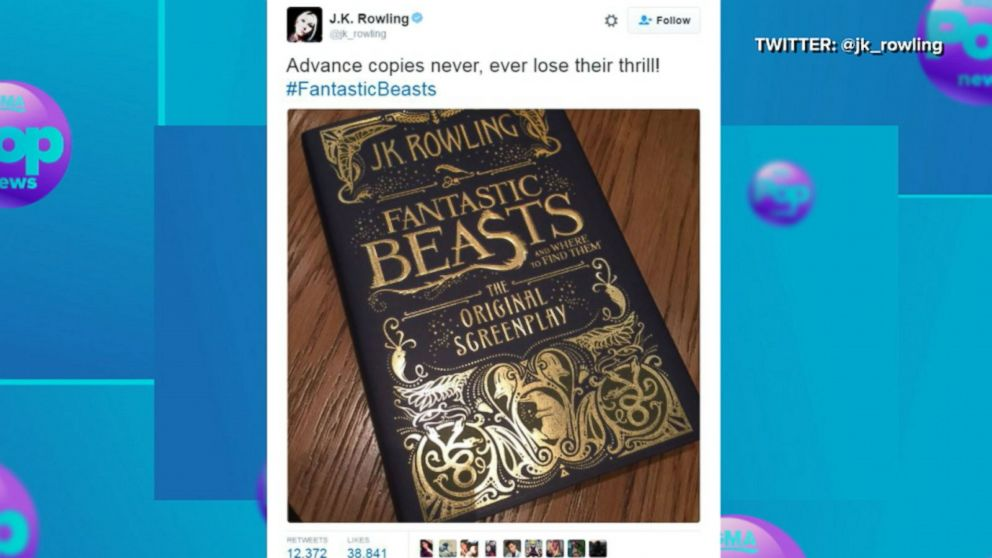 VIDEO: JK Rowling Teases Release of 'Fantastic Beasts and Where to Find Them' Script