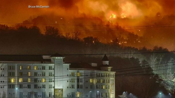 VIDEO: Tennessee Forest Fire Forces Mass Evacuation