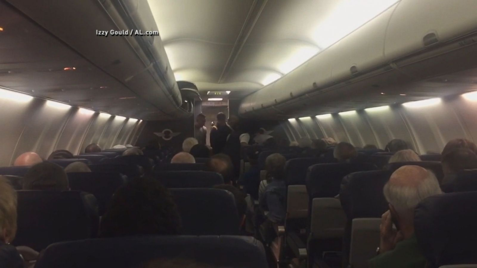 VIDEO: The mother and newborn were taken to a hospital after the Orlando-bound flight from Philadelphia was diverted to Charleston.