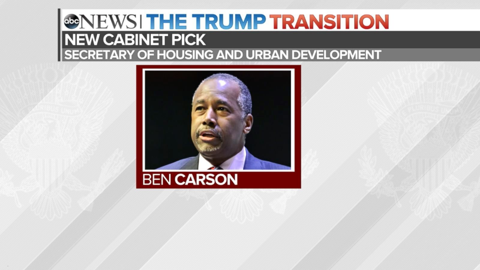 VIDEO: Donald Trump Nominates Ben Carson for Cabinet Position