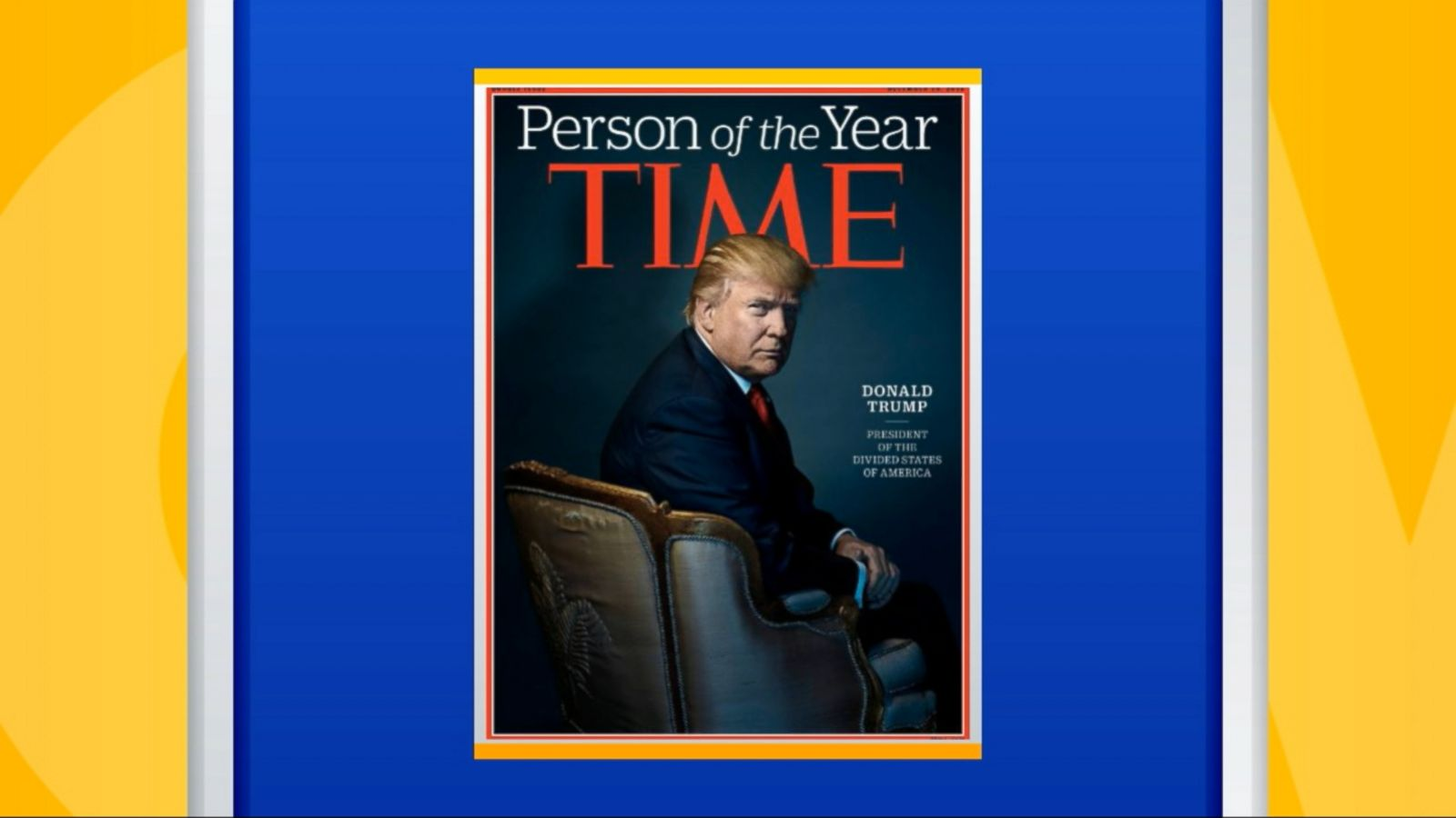 "President-elect Donald Trump said today it was ""a tremendous honor"" to have been chosen as Time magazine's ""Person of the Year."""