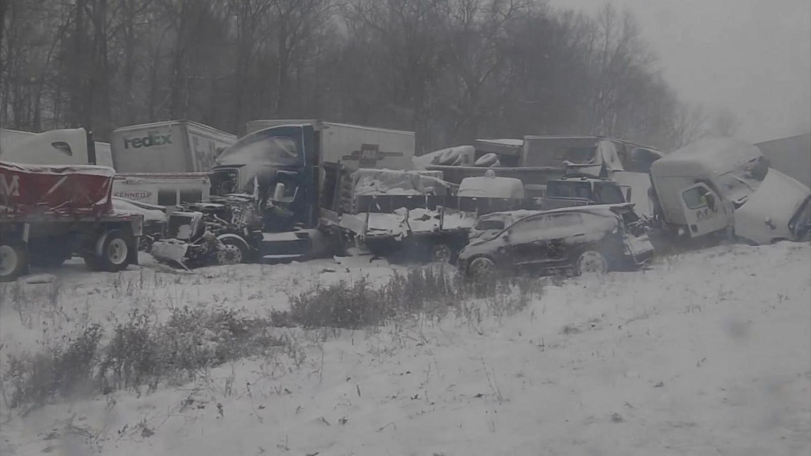 VIDEO: Arctic Blast Creates Dangerous Driving Conditions