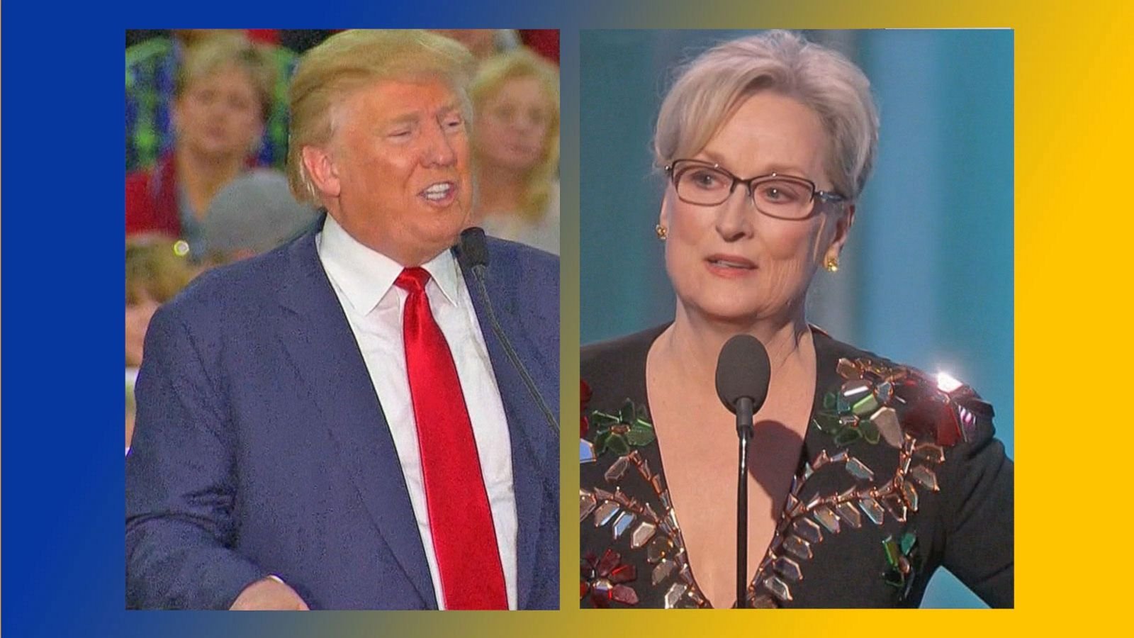 VIDEO: Donald Trump Reacts to Meryl Streeps Criticism of him During Golden Globe Speech
