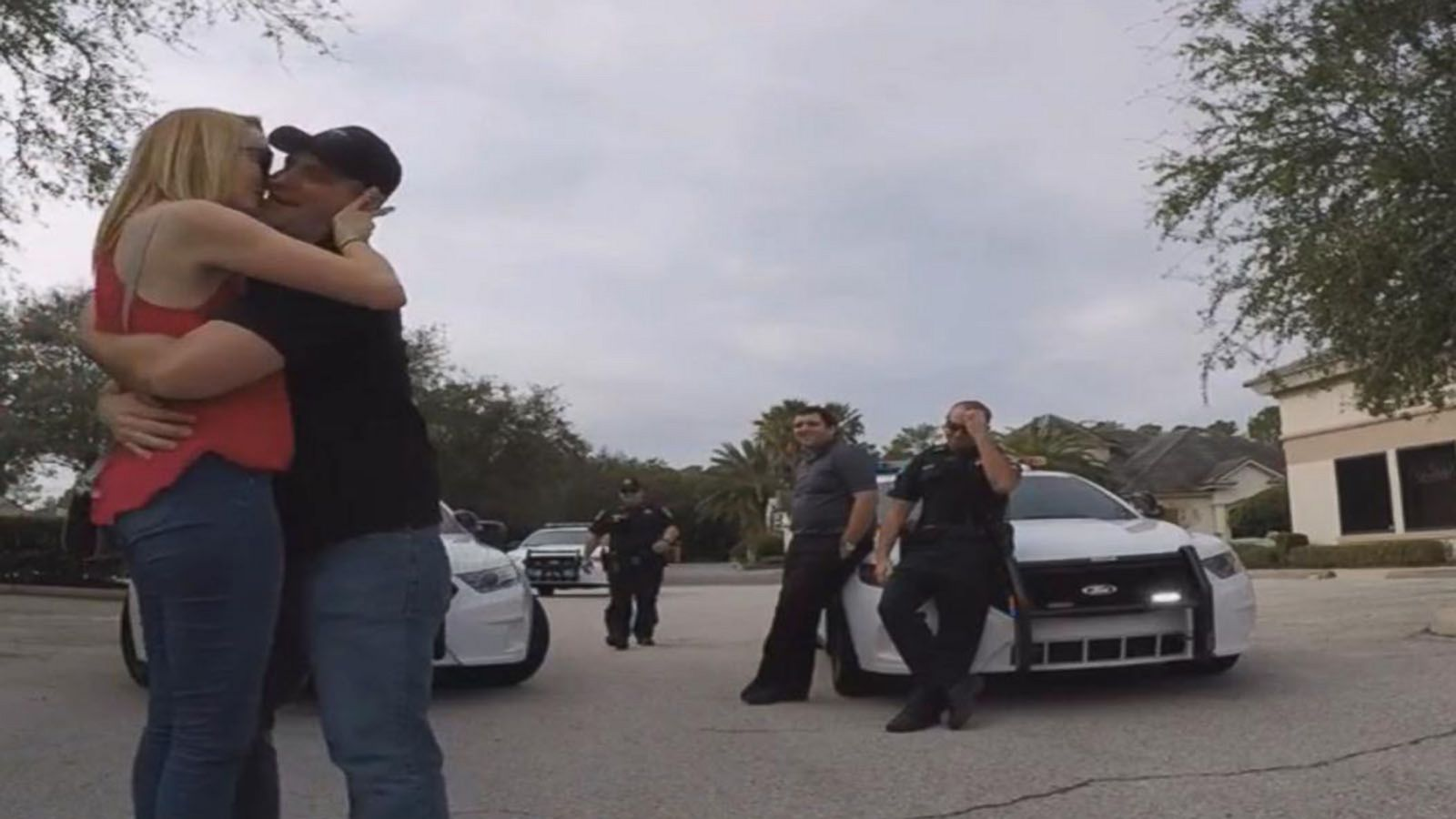 VIDEO: Florida Cops Help Man Propose to Scared Girlfriend After Fake Traffic Stop