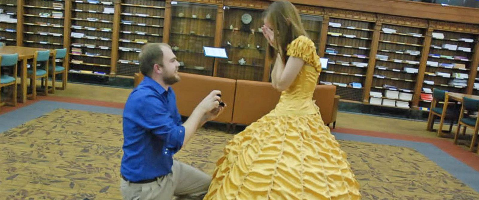 VIDEO: Boyfriend Pulls Off 'Beauty and the Beast' Proposal Complete With Belle's Yellow Gown