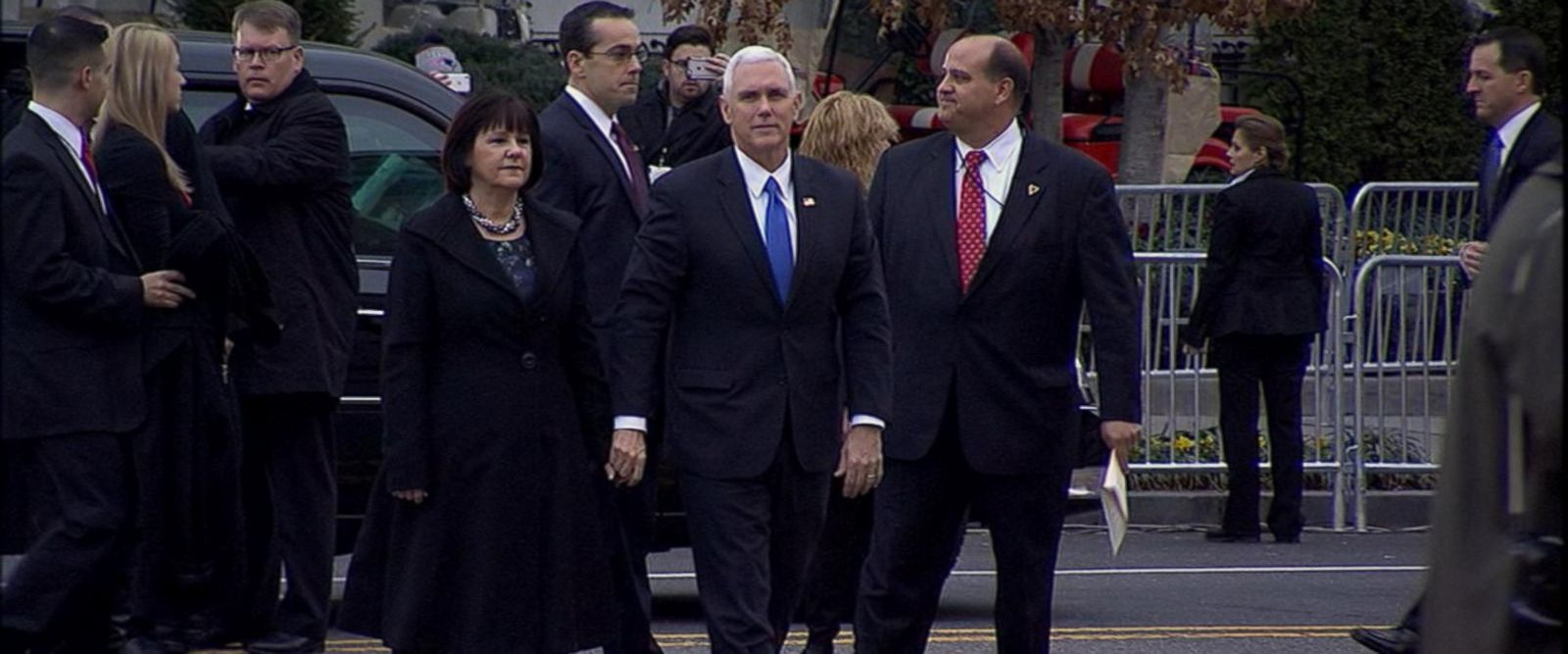 VIDEO: Vice President-Elect Mike Pence Arrives at St. John's Church