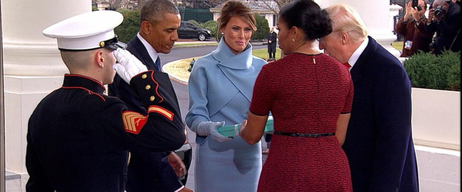 VIDEO: Speculation Grows Over Melania's Tiffany Box Gift to Michelle Obama