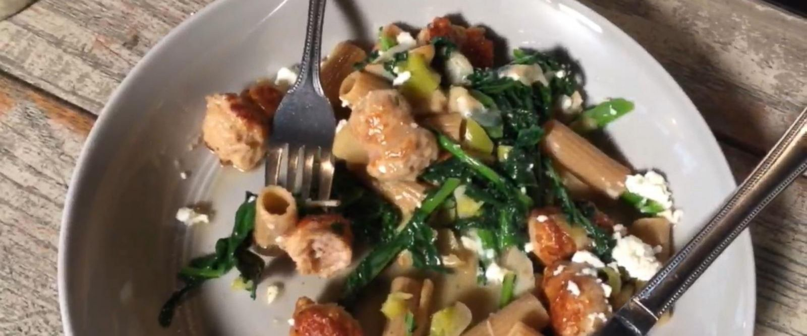 VIDEO: How to Make Rigatoni With Chicken Sausage and Broccoli Rabe