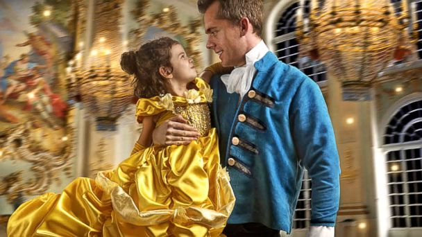 VIDEO: Daughter gets princess treatment with 'Beauty and the Beast' photo shoot