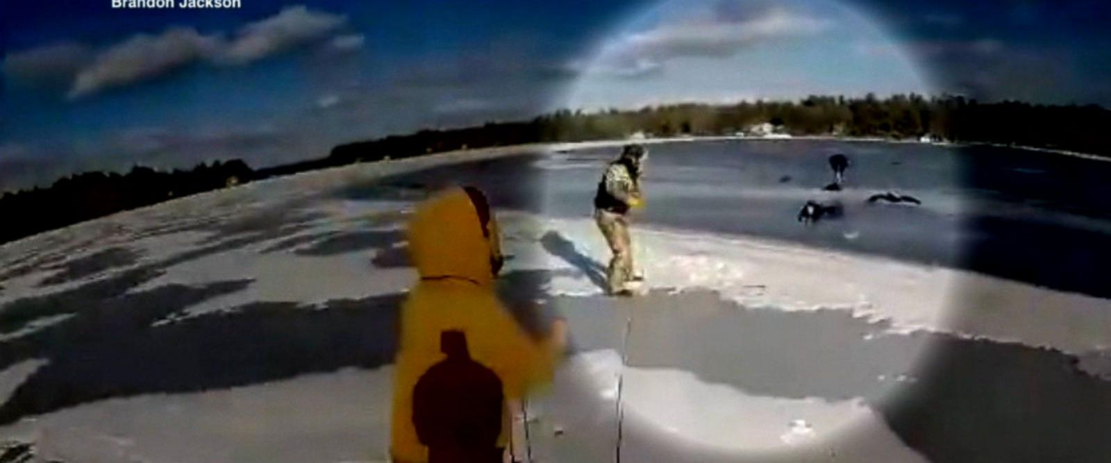 VIDEO: Good Samaritans rescue teen girl after snowmobile accident
