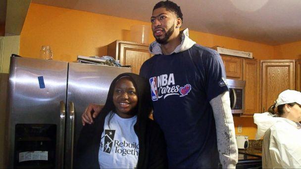 VIDEO: NBA stars help repair tornado damage in New Orleans