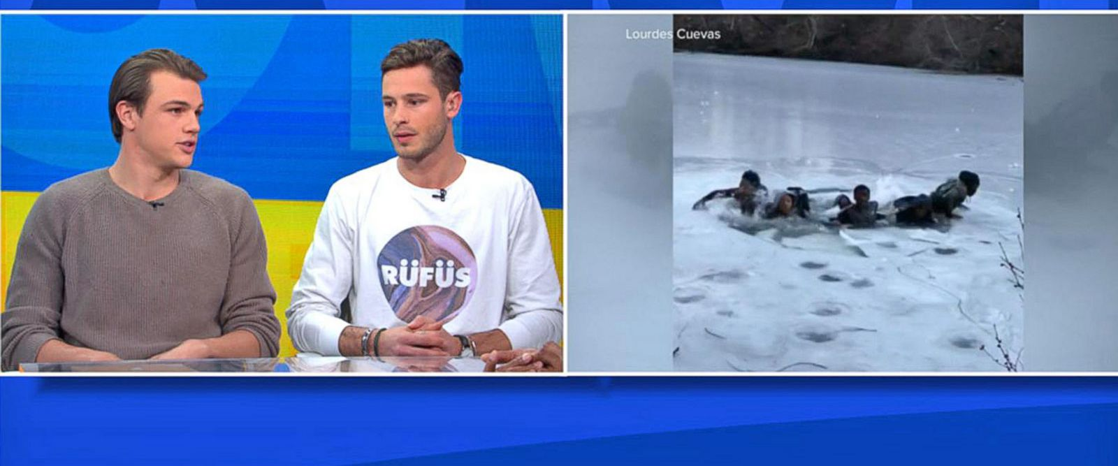 VIDEO: Male models rescue teens from frozen Central Park pond