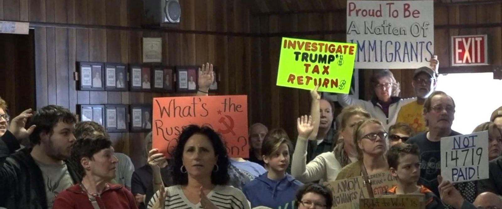 VIDEO: Republican lawmakers face angry voters at town halls