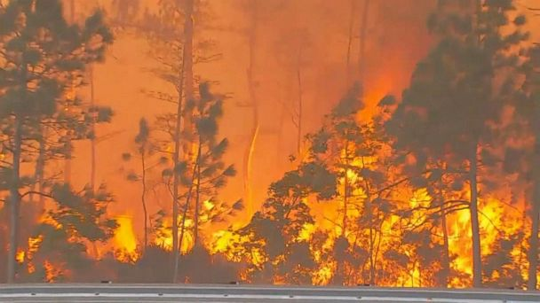 VIDEO: Wildfires burn through the Plains, South